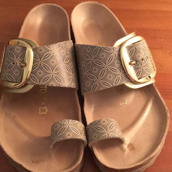 916c3f6f7eaf Birkenstock Shoes - Birkenstock size 38 Miramar Big Buckle